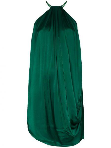Zielona sukienka z jedwabiu Halpern