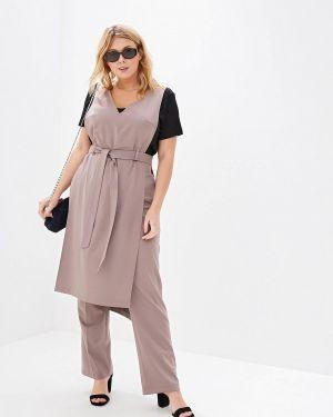 Костюм - бежевый авантюра Plus Size Fashion