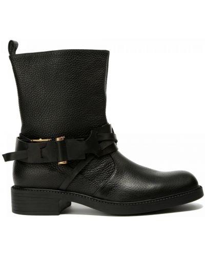 Кожаные ботинки круглые без застежки Fabi