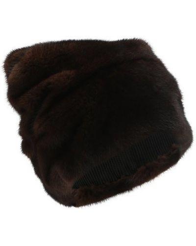 Коричневая шапка норковая Furland