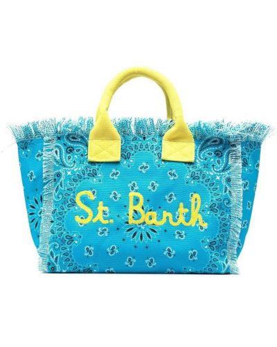 Пляжная синяя косметичка с карманами Mc2 Saint Barth Kids
