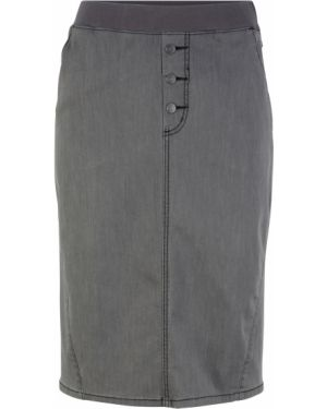 Джинсовая юбка на резинке макси Bonprix
