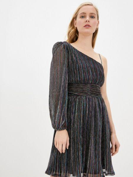 Вечернее платье черное весеннее Naf Naf