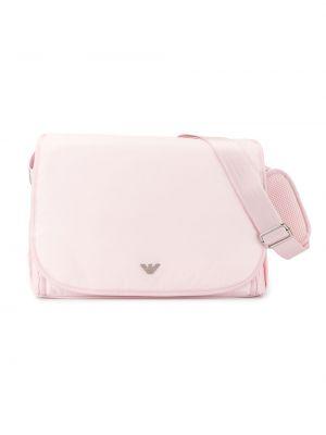 Różowa torebka skórzana Emporio Armani Kids