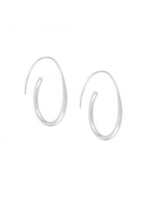 Kolczyki sztyfty srebrne oversize Bar Jewellery