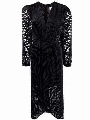 Платье миди на запах - черное Iro