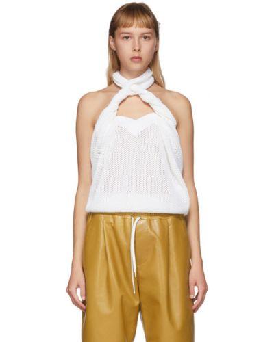 Otwarty z paskiem bawełna z rękawami top Givenchy