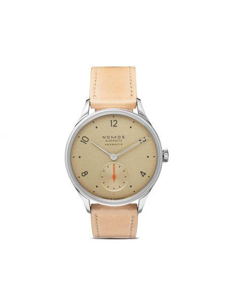 Кожаные часы - золотые Nomos Glashütte
