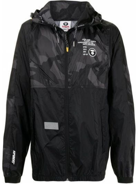 Черная куртка с капюшоном на молнии Aape By A Bathing Ape