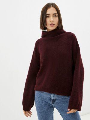 Бордовый зимний свитер Sisley
