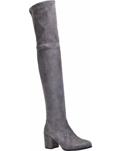 Кожаные сапоги осенние замшевые Stuart Weitzman