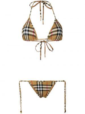 Brązowy klasyczny bikini Burberry