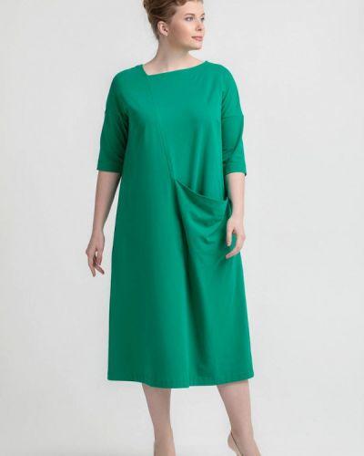 Платье прямое зеленый Larro