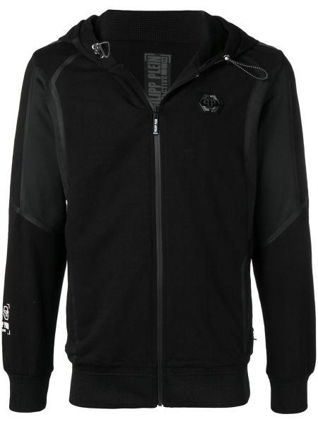 Czarna kurtka sportowa miejska bawełniana Philipp Plein