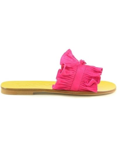 Różowe sandały Lanvin