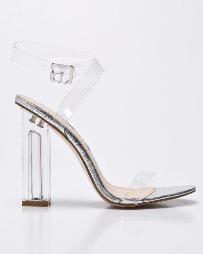 Туфли на каблуке серебряный на высоких Public Desire