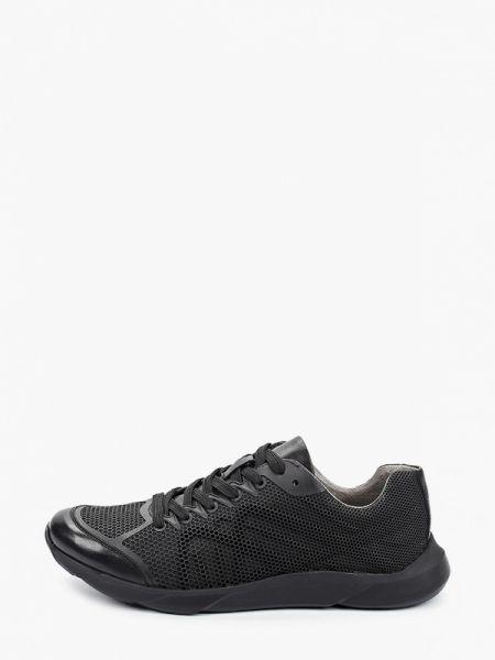 Кожаные черные кроссовки Guido Grozzi