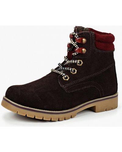 Коричневые ботинки замшевые Zenden Collection