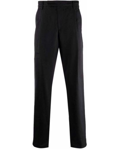 Czarne spodnie z paskiem Dunhill
