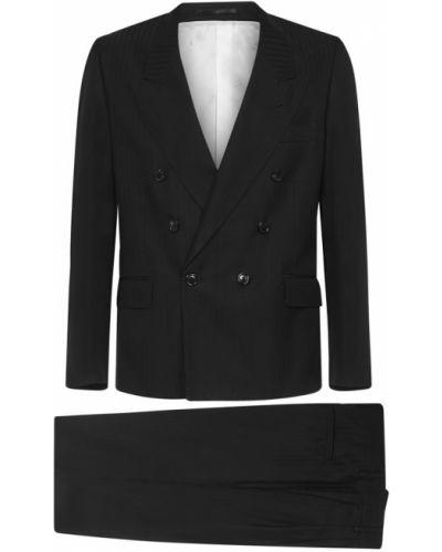 Czarny garnitur Mauro Grifoni