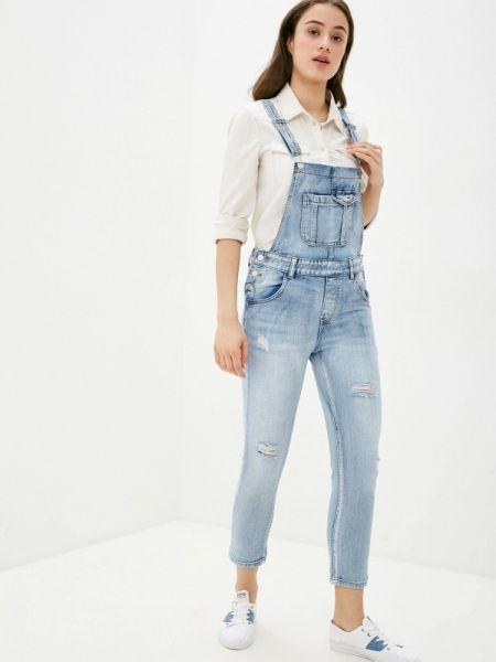 Синий джинсовый комбинезон Miss Bon Bon
