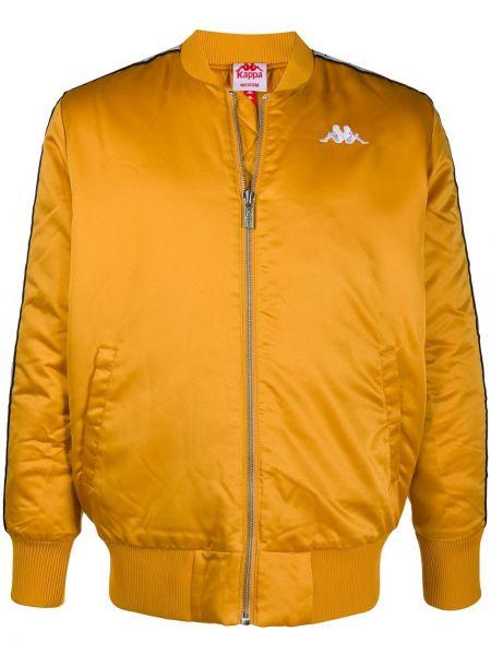 Приталенная желтая длинная куртка с манжетами с карманами Kappa