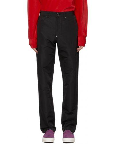 Czarne jeansy z paskiem srebrne Landlord