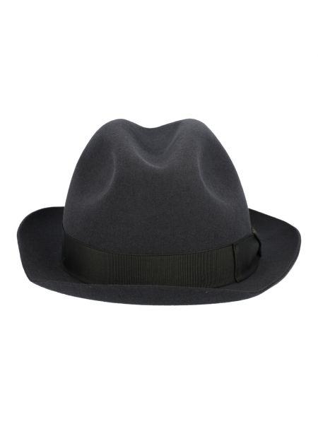 Szara czapka Borsalino