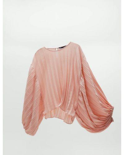 Плиссированная блузка на резинке Zara