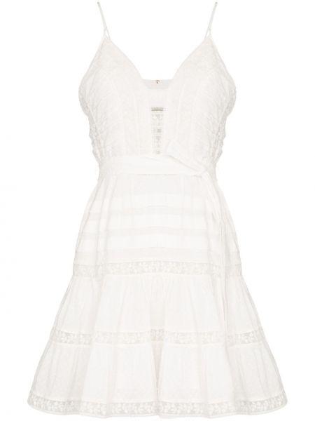 Платье мини ажурное с поясом Zimmermann