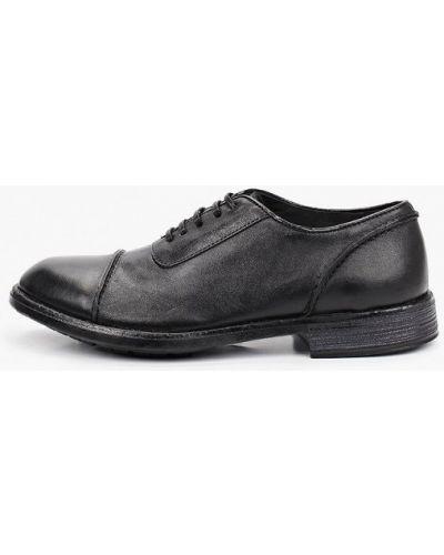Черные кожаные туфли F.lli Rennella