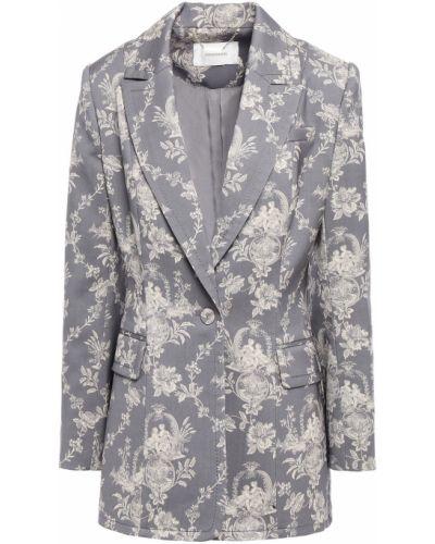 Шерстяной серый пиджак с карманами Zimmermann