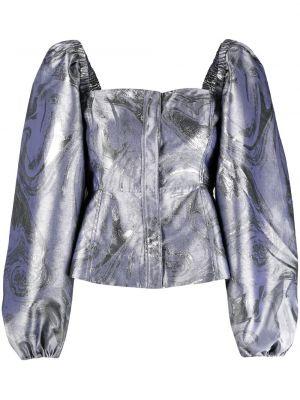 Bluzka rozkloszowana - liliowa Ganni