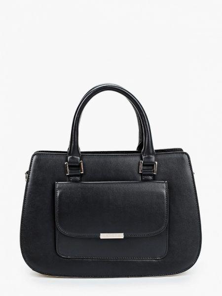 Черная кожаная сумка из натуральной кожи Labbra