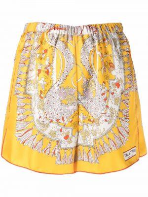 Желтые шелковые шорты Emilio Pucci