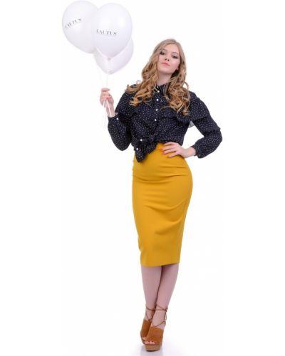 Блузка с рюшами шелковая Lautus