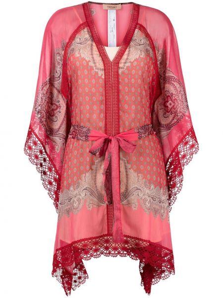 Sukienka mini koronkowa asymetryczna bawełniana Twinset