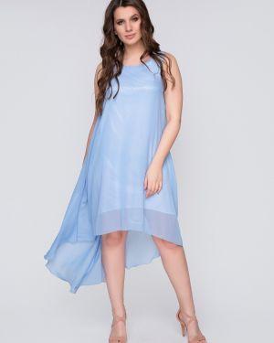 Вечернее шифоновое вечернее платье без рукавов Belluche