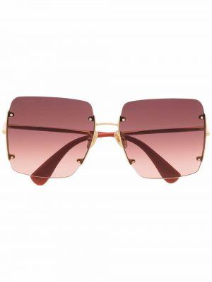 Солнцезащитные очки металлические - золотые Max Mara