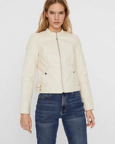Белая кожаная куртка Vero Moda