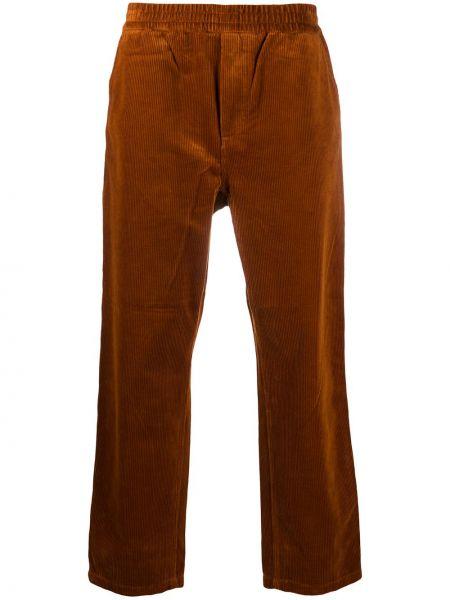 Оранжевые брюки вельветовые эластичные Carhartt Wip