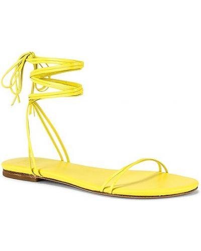 Żółte włoskie sandały Lpa