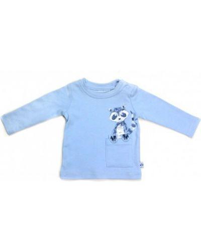 Синяя футболка с длинными рукавами свободного кроя Blue Seven