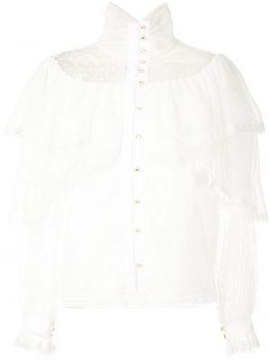 Bluzka tiulowa - biała Olympiah