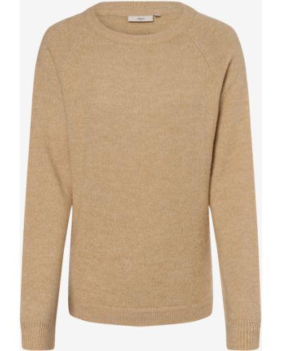 Sweter wełniany - beżowy Minimum