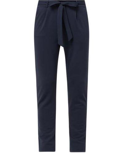 Niebieskie spodnie z paskiem z nylonu Moss Copenhagen