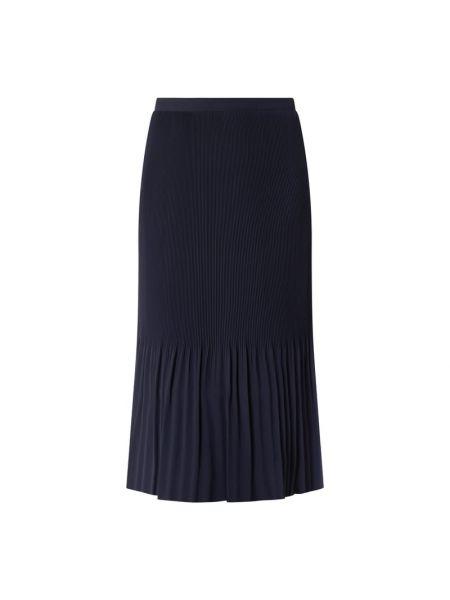 Niebieska spódnica midi z falbanami rozkloszowana Esprit Collection