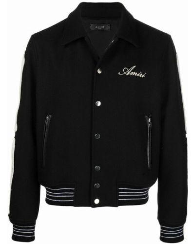 Czarny płaszcz Amiri