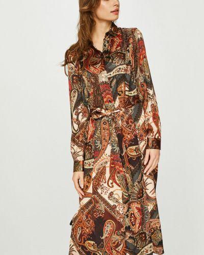 Платье миди на пуговицах прямое Answear