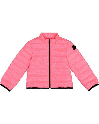 Серая пуховая куртка Moncler Enfant